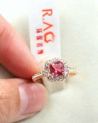 Enchantment Anniversary 18K rose gold 4 ct red wedding ceremony ring size 8