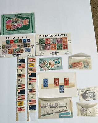 Lot Of 135 Assorted Foreign & U.s. Postage Stamps Korea New Zealand Sudan