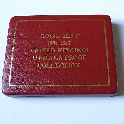 Royal Mint 1984-197 Silver Proof including COA Case