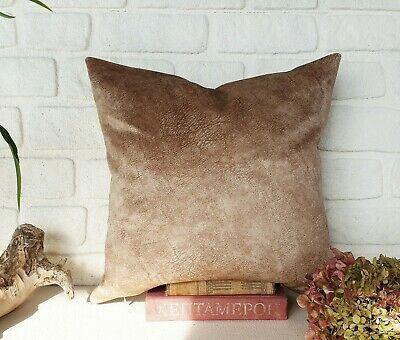 Coffee cream color thick velvet-baby face super soft fabric pillow cover-1QTY