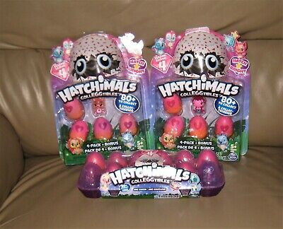 NEW Hatchimals CollEGGtibles Season 4 12 Pack Egg Carton and TWO (2) 4 Packs