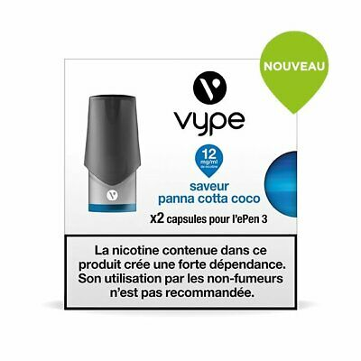 Capsules Vype Epen 3 Saveur Panna Cotta Coco 12 mg