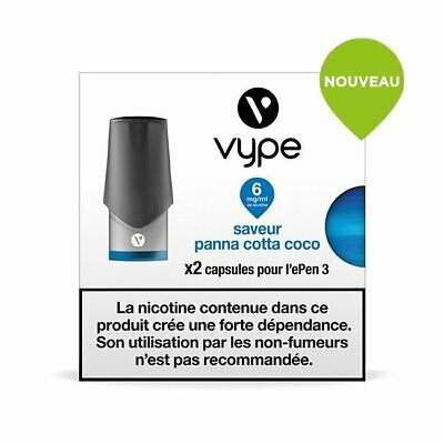 Capsules Vype Epen 3 Saveur Panna Cotta Coco 6 mg