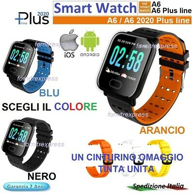 ⭐SMART WATCH BRACELET A6  2020 Bluetooth Orologio per Android / ios menu fitness