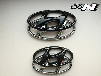 Hyundai i30N Hatchback Set Cover Emblem hochglanz–schwarz blacked out Badge