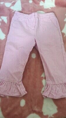 Pink Gingham Cropped Trousers Next Age 4