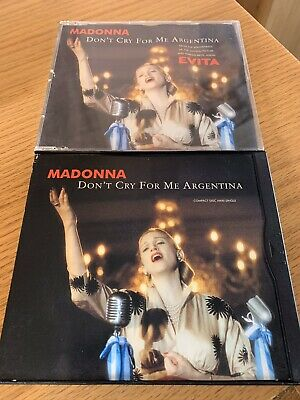 MADONNA - DON'T CRY FOR ME ARGENTINA - 2xCD SINGLE