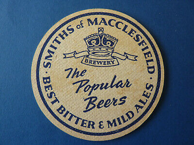 Vintage 1961 W A SMITH & Sons Ltd MACCLESFIELD, CHESHIRE beermat beer mat
