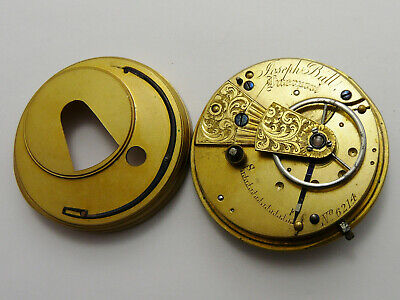 VINTAGE c1880 FUSEE LEVER POCKET WATCH MOVEMENT JOSEPH BALL LIVERPOOL