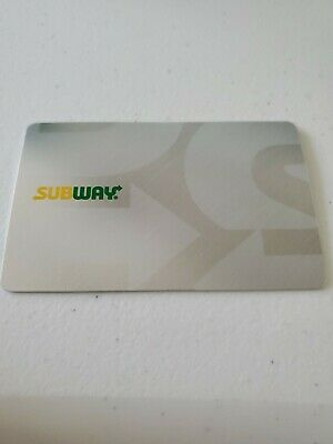 Subway $20 Gift Card Giftcard Free Shipping