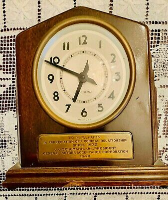 Vintage Seth Thomas 8-Day Commemorative Art Deco Mantel Clock