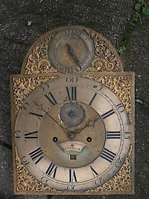 C1750 8 day   LONGCASE GRANDFATHER CLOCK DIAL+movement 12X16+1/4     JN HARMON ,