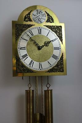 WEIGHT DRIVEN CHIMING WALL CLOCK by SCHATZ vintage, good working order 8 DAY
