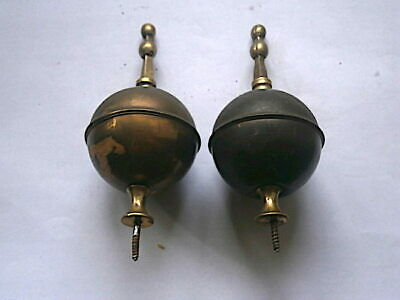 Pair . Of   Longcase Grandfather Clock Brass Finials    C1800
