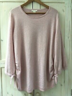 H&M MAMA fine knit Sweater casual maternity Jumper Pink 3/4 Sleeve XL 16 18 20