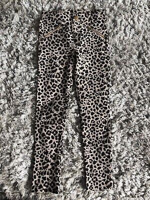 H&M GIRLS ANIMAL LEOPARD PRINT TREGGINGS LEGGINGS SOFT STRETCHY COMFY 7-8 Bnwt