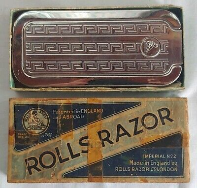 Vintage, Rolls Razor Imperial #2 w/ Box. Sheffield England Pat #242718 BEAUTIFUL