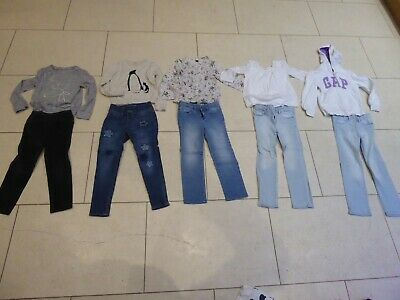 Job lot bundle Girls long sleeve top & Jeans clothes - GAP  - size 6 years