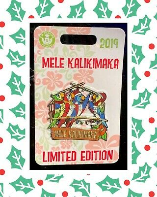 Disney Parks The Enchanted Tiki Room Mele Kalikimaka 2019 Pin LE Pre-Sale