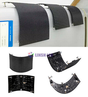 P4 mm Soft LED Display Module Flexible LED Panel RGB indoor sign HUB 75 64x32