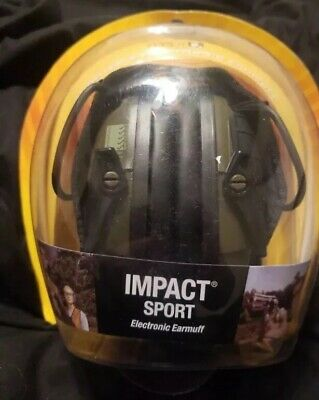 Howard Leight By Honeywell R-01526 Impact Sport Sound Electronic Earmuff Green,