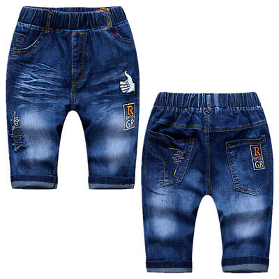 Toddler Kids Boy Pants Clothes Children Boy Bottom Short Jeans Denim Trousers
