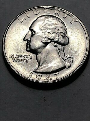 1947 S Silver Washington Quarter From Original Roll Mint Luster Beautiful Coin