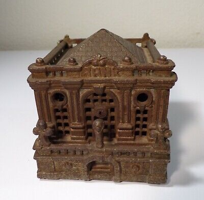 "ANTIQUE Cast Iron ""UNITES STATES TREASURY BANK"" Grey Iron Casting Co. Still Bank"