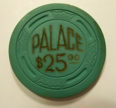 PALACE Club RENO 1940's Nv Casino POKER Chip Obsolete Vintage LARGE CROWN