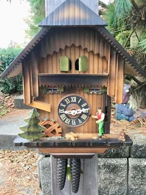 Wood choppers Cuckoo Clock Project Running and Striking