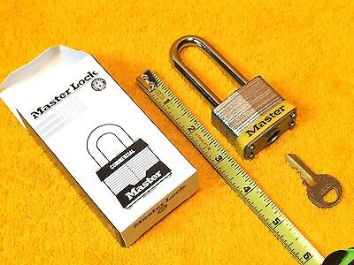 """Details about  /NEW    MASTER LOCK 3LHYL  2/"""" COMMERCIAL GRADE No 3 PADLOCK 3LH YELLOW ONE KEY"""
