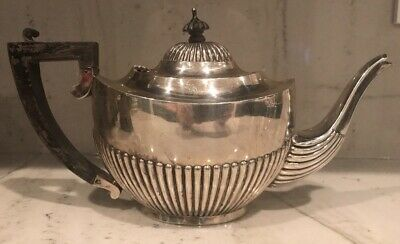 English Antique Sterling Silver Teapot circa 1904