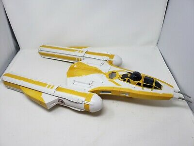"2009 Lfl Star Wars The Clone Wars 27"" Y-Wing Fighter Bomber Ship Vehicle Yellow"