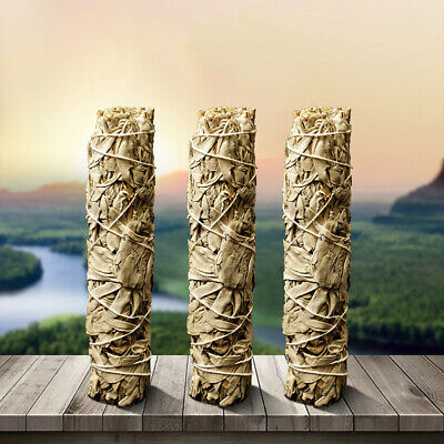 3 Pack White Sage Smudge Stick Herb House Cleansing Negativity Removal Home USE