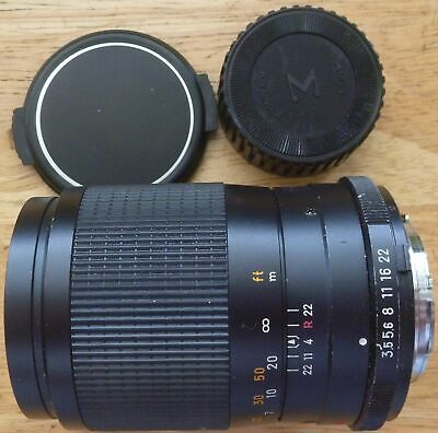 MINOLTA MC CELTIC 135mm 1:3.5 JAPAN lens with front and rear caps