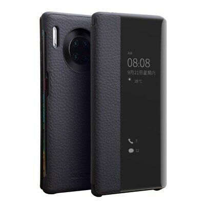 QIALINO View Window Cowhide Leather Smart Case Cover  for Huawei Mate 30 Pro