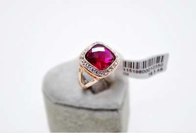 Wedding Engagement Red Rbuy 18K Rose Gold simulated diamond Ring size 8