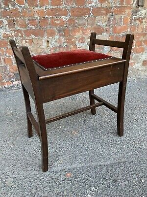 Early 20Th Century Antique Mahogany Piano Stool With Storage - Stool