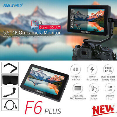 """Feelworld F6 Plus 5.5"""" 3D LUT HDMI IPS Touch Screen Camera Video Field Monitor"""