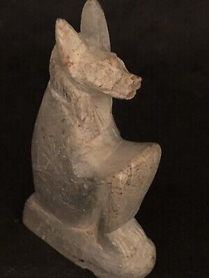 Rare Ancient Egyptian Seated Anubis Amulet(c.3100-c.2890 BC)