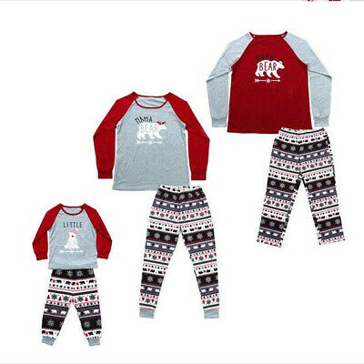 Grey Red Family Matching Adult Kids Christmas Pyjamas Nightwear Pajamas PJs Set