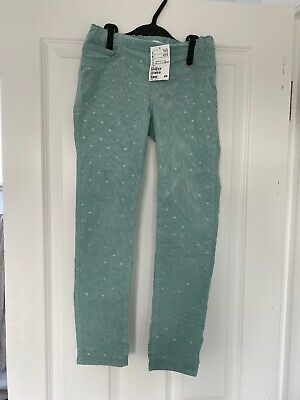 H&M girls corduroy trousers Age 8-9 BNWT