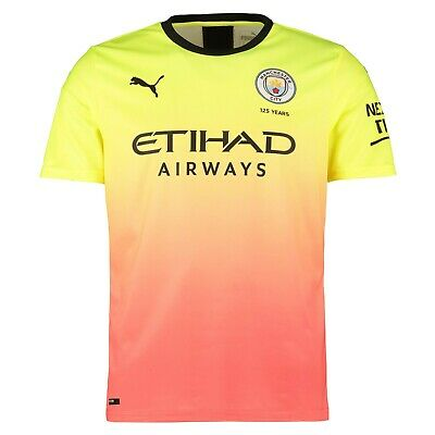 A133 Mens 2XLarge Manchester City Third Shirt 2019-20 Free New Champs 18/19Badge