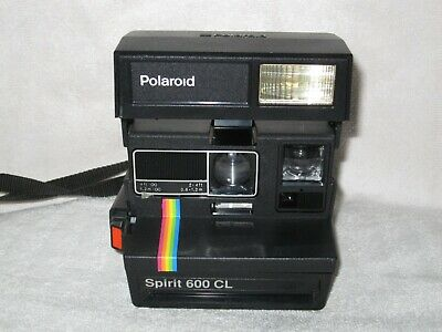 Polaroid Spirit 600 CL Instant camera Working. Rainbow stripe.