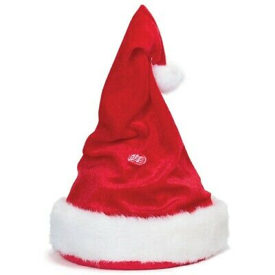 Singing And Dancing Unisex Santa Christmas Hat With Adjustable Head Band