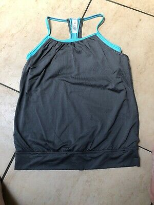 Preowned Lululemon Ivivva Girls Racer Back Double Layer Tank Top Age 14 Unworn