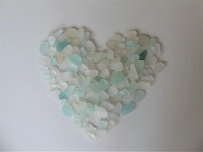 150 Sea Glass pieces from Whitley Bay - Small to Medium Blue & White