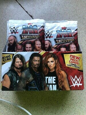 Topps - WWE Slam Attax Universe Trading Cards - 34 New Sealed Packets Free P&P