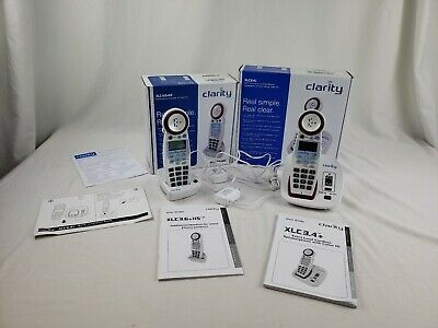 p137) Clarity XLC3.6+HS & XLC3.4+ Amplified Cordless Handsets Hearing Impaired