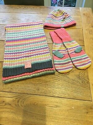 Joules Hat Scarf And Gloves - One Size Children 7yrs Through To Adult